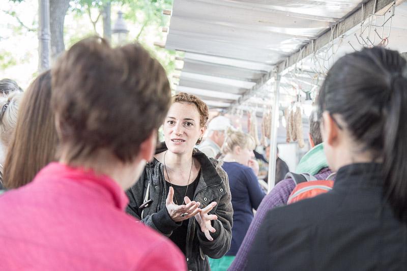 Market tour with the chef from La Cuisine Paris