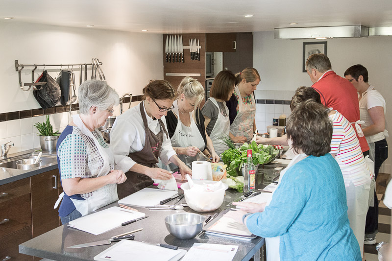 Cooking class in action at La Cuisine Paris