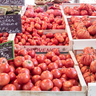 Tomatos at a french market